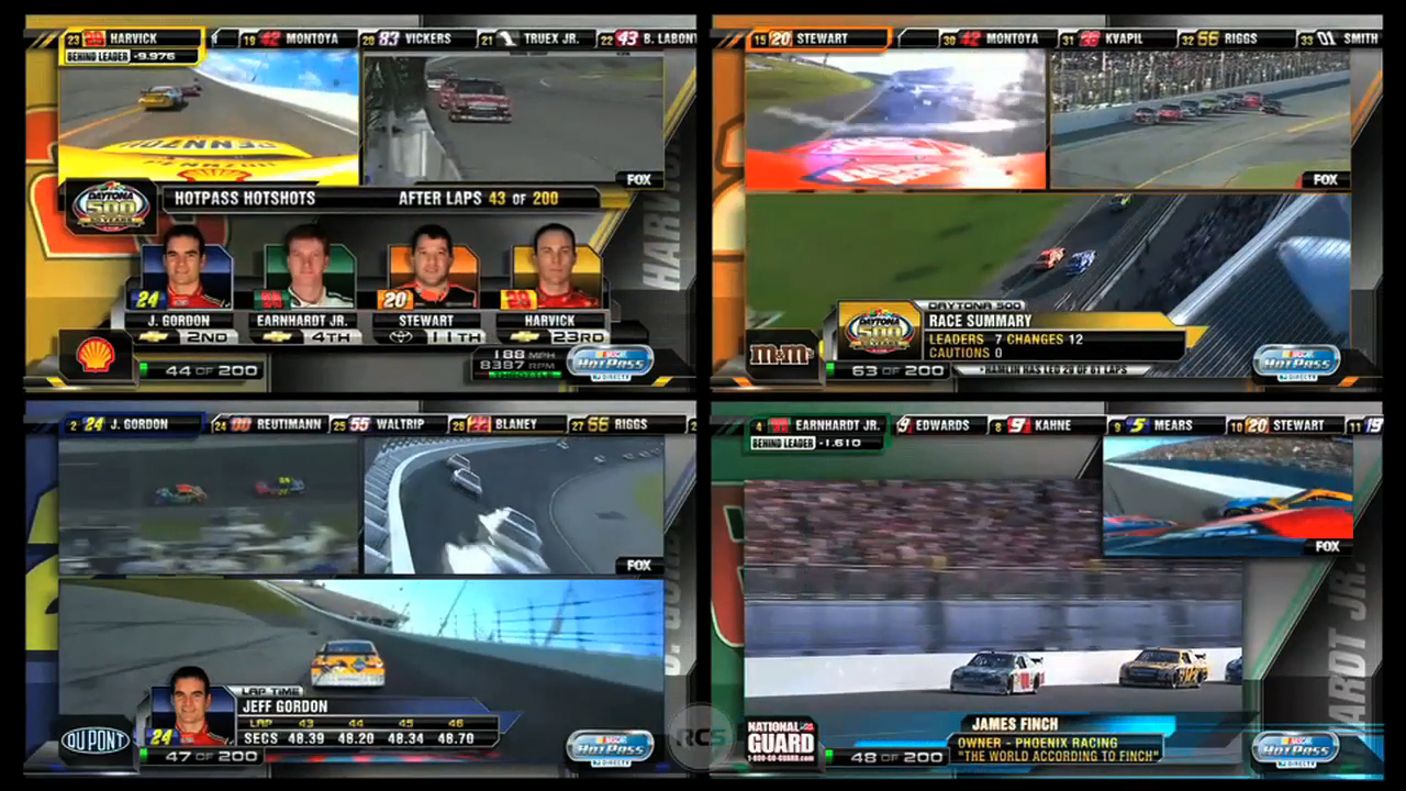 Reality Check Systems 187 Nascar Hotpass Directv